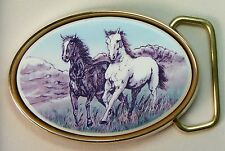Belt Buckle Barlow Photo Reproduction Stallions Traditional Horse 590614c