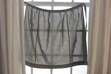 Vintage French Apron grey cotton c1950's kitchen textile