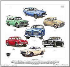 CLASSIC VOLVO FINE ART PRINT - P1800 Amazon PV544 120 series 1800ES 123GT images