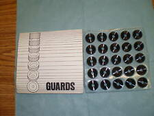 Lot of  Augat / Alcoswitch Aluminum Guards PN: G-13-8 <