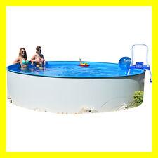 Runde stahlwandpools schwimmbecken g nstig kaufen ebay for Stahlwandpool rund steinoptik