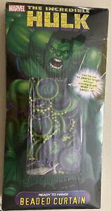 "NIP Incredible Hulk Beaded Curtain 24""x 78"" Factory Sealed 2004 Marvel Avengers"