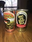 2 Different Bean And Bacon Days Straight Steel  Beer Cans (empty)
