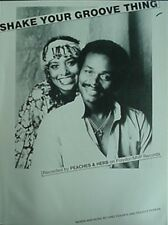 PEACHES & HERB SHEET MUSIC, 1978 (SHAKE YOUR GROOVE THING