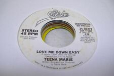 Rock Promo 45 Teena Marie - Love Me Down Easy / Same On Epic (Promo)