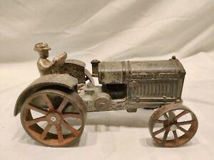1930's Arcade Cast Iron Toy McCormick Deering Tractor Original. Unrestored. Nice
