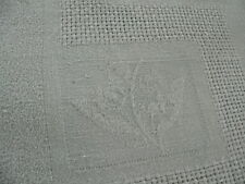ancienne nappe en damassé lin monogramme PD