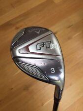 """Callaway FT IZ /w Headcover / #3 Hybrid / 39.5"""" / Stiff Flex / Used Golf Club RH"""