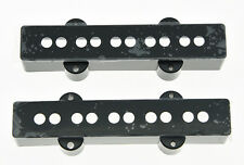 Set of 2 Jazz J Bass 5 String Pickup Covers Neck and Bridge Black