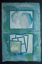 Rousseau litho pleine page papier chiffon signée main numérotée /60 - Abstrait