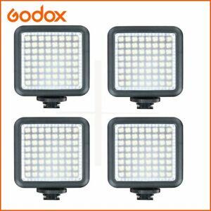 4x Godox LED 64 Video Camera Light Panel For Canon Nikon Sony Olympus Panasonic