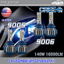 9005 9006 CREE LED Headlight Bulbs for Honda Accord Sedan 2008-2012 Hi Low Beam