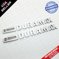 2x OEM Chrome Allison Transmission Duramax Hood Letter Logo Emblem Badge Trucks