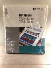 NEW HP 51630P CX JetSeries Z-Fold Paper 250 Sheets 8x11