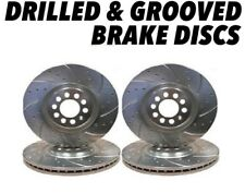 Drilled and Grooved Front + Rear Brake Discs For Jaguar X-Type 01-09