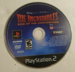 The Incredibles Rise of the Underminer (PlayStation 2 PS2) - DISC ONLY