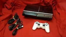 Playstation 3 80GB Console [w/ 1 Controller & All Cables] Tested & Working