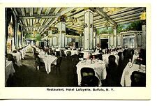 Dining Room-Restaurant-Hotel Lafayette-Buffalo-New York-Vintage Postcard