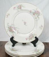 Theodore Haviland New York Apple Blossom Dinner Plate Set of 4 Gilded