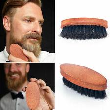 Customize Logo-20PCS Wooden Handle Boar Bristle Brush Beard Care Brush Moustache