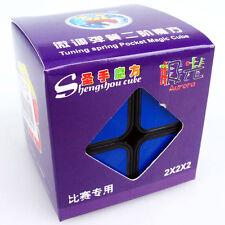 Black shengshou JiGuang Aurora 2x2x2 Magic Cube Extreme Smooth Speed Structure