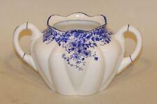 Shelley England Fine Bone China Dainty Blue Sugar Bowl Base ONLY (No Lid)