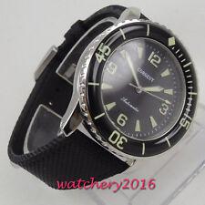 45mm Corgeut Black dial Super LUME Miyota Steel Automatic Movement men's Watch