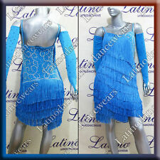 Latin Rhythm Ballroom Salsa Dance Competition Dress Size S M L (ls25a)