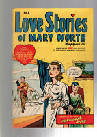LOVE STORIES OF MARY WORTH #2 GOLDEN AGE PRE CODE GOOD GIRL ART 1949