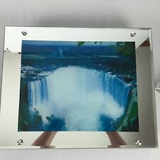 Vintage VISIONTAC Moving Lighted Water Fall Picture With Sound Read Description