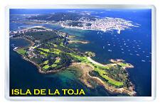 ISLA DE LA TOJA ESPAÑA FRIDGE MAGNET SOUVENIR IMAN NEVERA