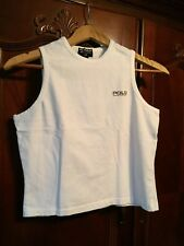 Polo Jeans Co Ralph Lauren Vintage Rl- Logo Graphic-Tank-Top Ladies Small White