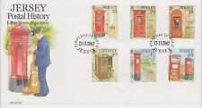Unaddressed Jersey FDC First Day Cover 2002 Letter Boxes Postal History Set