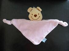 25- DOUDOU TRIANGLE PLAT 2 NOUETTES WINNIE ROSE DISNEY BABY GSA -TTBE