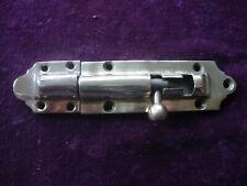Antique brass door bolt and keep