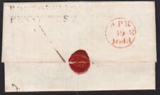 GB SCOTLAND 1833 Entire - PORTOBELLO / PENNY POST to Carlisle...............6887