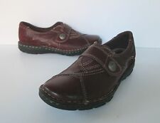 Earth Origins Womens Burgundy  Leather Oxford Loafer style Shoes  8 W