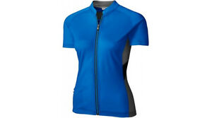 Smartwool Women's Channing Short Sleeve Cycling Jersey Electric Blue New