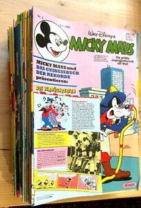 Micky Maus - Sammlung  1987 Heft 1 bis 53 (Die Nr.1/2/7/36/37/42/52 fehlen !!! )