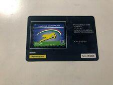 2021 Tessera Filatelica Plastic Card Italia Campione d' Europa UEFA Euro 2020