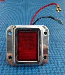 Luce porta rossa cornice rettangolare 4 fori per Ferrari e varie-Door light