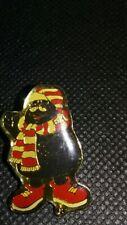 MCDONALD'S VINTAGE GRIMACE WINTER SCARF & HAT LAPEL PIN!