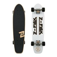 Z-Flex Skateboard Complete Z Bar White Black Cruiser RRP $150 Zflex Z Flex