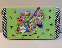 Vintage 1989 Muppets Tin Box - Ms Piggy Kermit The Frog - Made In Hong Kong