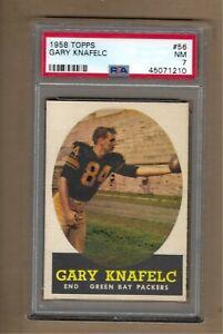 1958  TOPPS  FOOTBALL  GARY  KNAFELC  #  56  PSA  7