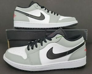 Nike Air Jordan 1 Low Light Smoke Grey White Shoes 553558-030 Men's Size 11.5