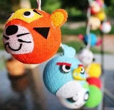 Kids Mixed Cartoon Character Cotton Ball Nursery Or Bedroom Fairy Lights String