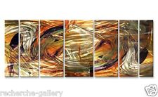 Abstract Painting on Huge Metal Wall Art by Ash Carl Contemporary Home Décor