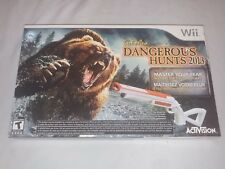 Nintendo Wii Video Game Cabelas Dangerous Hunts 2013 with Gun Console Accessory