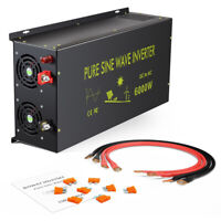 6000W Pure Sine Wave Power Inverter 12V/24/48V DC to 240V AC Off Grid Car Motor
